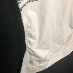 Athleta Tops - Athleta | Black White Ruched Stretch Shirt